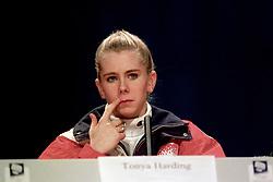 AMERICAN SKATER TONYA HARDING AT A PRESS<br /> CONFERENCE IN LILLEHAMMER.