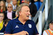 Cardiff City manager Neil Warnock during the EFL Sky Bet Championship match between Burton Albion and Cardiff City at the Pirelli Stadium, Burton upon Trent, England on 5 August 2017. Photo by Richard Holmes.