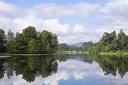 Lake trees landscape Scotland tranquil picturesque