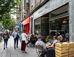 Exterior of Union of Thomas J Walls cafe  in Old Town of Edinburgh, Scotland, UK