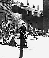 East End boys boxing in Bethnal Green 1939