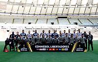 RIO DE JANEIRO, BRAZIL - JANUARY 30: Team Players of Santos FC pose ,during the final of Copa CONMEBOL Libertadores 2020 between SE Palmeiras and Santos FC at Maracana Stadium on January 30, 2021 in Rio de Janeiro, Brazil. (Photo by MB Media/BPA)