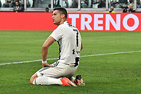 Cristiano Ronaldo of Juventus reacts during the Serie A 2018/2019 football match between Juventus and Genoa CFC at Allianz Stadium, Turin, October, 20, 2018 <br />  Foto Andrea Staccioli / Insidefoto