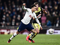 Football - 2019 / 2020 Emirates FA Cup - Fourth Round, Replay: Tottenham Hotspur vs. Southampton<br /> <br /> Tottenham Hotspur's Dele Alli holds off the challenge from Southampton's Jack Stephens, at The Tottenham Hotspur Stadium.<br /> <br /> COLORSPORT/ASHLEY WESTERN