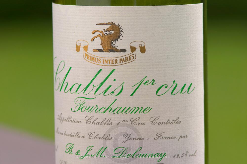 Chablis 1er premier cru Fourchaume P and JM Delaunay, Bourgogne, Burgundy, France. Sweden, Europe.