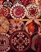 Contemporary Navajo baskets woven by Alicia Nielson, Elsie Holiday, Fannie King, Jonathan Black, Peggy Black, Lorraine Black, Joann Black and Mary Black, Twin Rocks Trading Post, Bluff, Utah.