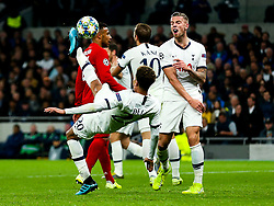 Dele Alli of Tottenham Hotspur attempts an overhead kick - Rogan/JMP - 01/10/2019 - FOOTBALL - Tottenham Hotspur Stadium - London, England - Tottenham Hotspur v Bayern Munich - UEFA Champions League Group B.