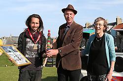 European Stone Stacking 2019 21 April 2019; Over all winner of the European Stone Stacking 2019, Sp Ranza from France, at Eye Cave Beach, Dunbar.<br /> <br /> (c) Chris McCluskie | Edinburgh Elite media
