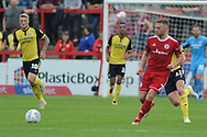 Accrington Stanley Midfielder, Jordan Clark (7) during the EFL Sky Bet League 1 match between Accrington Stanley and Scunthorpe United at the Fraser Eagle Stadium, Accrington, England on 1 September 2018.