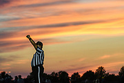 during the football game between the Mount Mansfield Cougars and the BFA St. Albans Bobwhites at BFA High School on Friday night September 7, 2018 in St. Albans. (BRIAN JENKINS/for the FRESS PRESS)