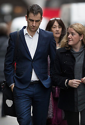 © Licensed to London News Pictures. 23/11/2016. London, UK. Brendan Cox, the husband of murdered MP Jo Cox arrives at the Old Bailey. Defendant Thomas Mair chose not to give any evidence in his defence.  Mair allegedly shot and stabbed the 41-year-old Member of Parliament outside her constituency surgery in Birstall, near Leeds, Yorkshire on June 16 this year. Photo credit: Peter Macdiarmid/LNP