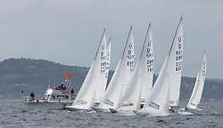 International Dragon Class Scottish Championships 2015.<br /> <br /> Day 1 racing in perfect conditions for the start of racing.<br /> <br /> <br /> Credit Marc Turner