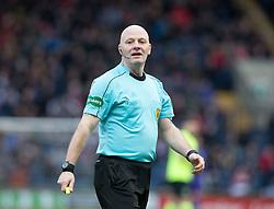 Ref Craig Charleston. Raith Rovers 1 v 1 Hibernian, Scottish Championship game played 18/2/2017 at Starks Park.