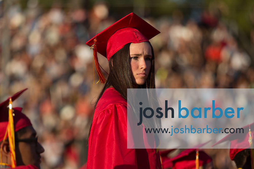 Class of 2016 seniors graduate during Mission Viejo High School Commencement Ceremony at the school's stadium on Thursday, June 16, 2016 in Mission Viejo, California.