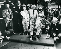 1984 Clint Eastwood's hand/footprint ceremony at the Chinese Theater