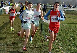 08-12-2013 ATHLETICS: SPAR EC CROSS COUNTRY: BELGRADE<br /> Junior men 6 km / Kristian Grunfeld SLO en Vid Zevnik SLO<br /> ©2013-WWW.FOTOHOOGENDOORN.NL