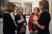 CATHERINE DAUNT, PHILLIPA HOGAN-HERN, ANNE DESMET, HELEN ROSSLYN, London Original Print Fair Preview, Royal Academy,  London. 24 April 2019