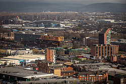 © Licensed to London News Pictures . 07/12/2013 . Manchester City Stadium , Chips , East Manchester , Etihad , Eastlands . Cityscape view of Manchester . Photo credit : Joel Goodman/LNP