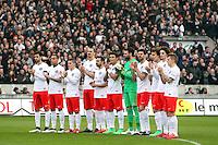 Equipe PSG pendant l'hommage - 15.03.2015 - Bordeaux / Paris Saint Germain - 29e journee Ligue 1<br /> Photo : Manuel Blondeau / Icon Sportt