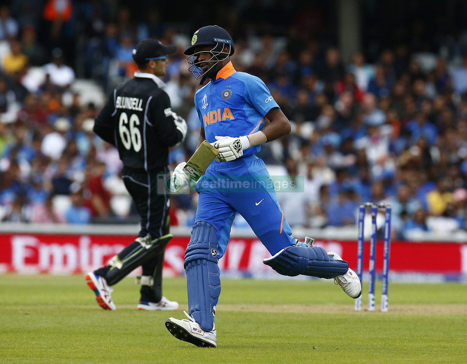 May 25, 2019 - London, England, United Kingdom - Hardik Pandya of India.during ICC World Cup - Warm - Up between India and New Zealand at the Oval Stadium , London,  on 25 May 2019.Credit Action Foto Spor  (Credit Image: © Action Foto Sport/NurPhoto via ZUMA Press)