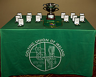 Prizes for the finalists during the final of the Irish Schools Senior Championship at Portstewart Golf Club, Portstewart, Co Antrim on Tuesday 23rd April 2019.<br /> Picture:  Thos Caffrey / www.golffile.ie