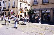 Street procession celebration of Feast of Corpus Christi in Ronda, Andalucia, Spain
