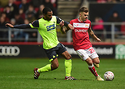 Jamie Paterson of Bristol City battles for the ball with Jason Puncheon of Huddersfield Town - Mandatory by-line: Alex James/JMP - 05/01/2019 - FOOTBALL - Ashton Gate Stadium - Bristol, England - Bristol City v Huddersfield Town - Emirates FA Cup third round proper