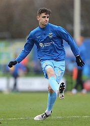 Coventry City's Tom Bayliss warms up before kick off