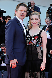 Amanda Seyfried and Ethan Hawke attending the First Reformed Premiere during the 74th Venice International Film Festival (Mostra di Venezia) at the Lido, Venice, Italy on August 31, 2017. Photo by Aurore Marechal/ABACAPRESS.COM