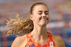Nadine Visser teleurgesteld over haar vierde plek in de finale 100m horden bij het EK atletiek in Berlijn op 9-8-2018