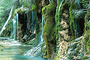 SPAIN, EASTERN AREAS, LA MANCHA waterfall on the Rio Cuervo, north of Cuenca, (one of Spain's prettiest waterfalls)
