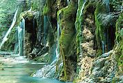 SPAIN, EASTERN AREAS, LA MANCHA waterfall on the Rio Cuervo, north of Cuenca, (one of Spain's prettiest waterfalls)
