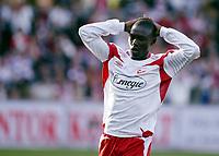 Fotball , 14. april 2007 , Tippeligaen , Fredrikstad - Lyn 3-1<br /> Ismael Fofana , FFK