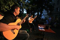 Glasbeniki na Gallusovem nabrezju v Ljubljani, Slovenija, 25.6.2008. (Photo by Vid Ponikvar / Sportal Images)..