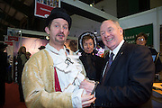 NO FEE PICTURES<br /> 23/1/16 Minister for Tourism Michael Ring with Jim O'Rourke , Visit Cobh, at the Holiday World Show at the RDS in Dublin. Picture: Arthur Carron