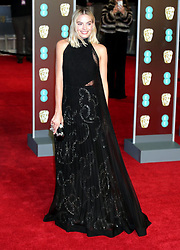 Margot Robbie attending the EE British Academy Film Awards held at the Royal Albert Hall, Kensington Gore, Kensington, London.