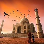 To the Taj.