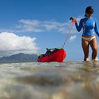 Kaneohe Sandbar, Crossing the sandbar to Kipapa Island