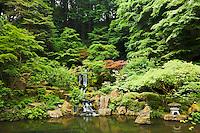 Waterfall in Portland Japanese Garden, Portland, Oregon