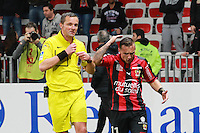 Stephane LANNOY / Eric BAUTHEAC - 04.04.2015 - Nice / Evian Thonon - 31eme journee de Ligue 1<br />