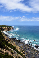 View from a light House of the Cliffs and water on the Great Ocean Road