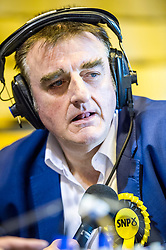 Pictured: Tommy Sheppard prepares to speak to the media<br /> The election count contiues as the clocks turn towards midnight.<br /> <br /> Ger Harley | EEm 8 June 2017