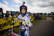 #5 (PAJON Mariana) COL wins the time trial at the UCI BMX Supercross World Cup in Papendal, Netherlands.