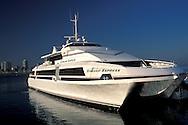 Catalina Express Ferry docked at Long Beach Harbor, California