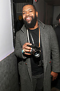 NEW YORK, NEW YORK- FEBRUARY 4: Photographer IamSuede backstage before THE ROOTS Produced by Jill Newman Productions perform the last show at the current Highline Ballroom on February 4, 2019 in New York City.  (Photo by Terrence Jennings/terrencejennings.com)