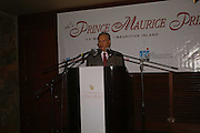 PRIME MINISTER OF MAURITIUS DR. NAVINCHANDRA RAMGOOLAM, LE PRINCE MAURICE PRIZE 2006. PRINCE MAURICE HOTEL. MAURITIUS. 27 May 2006. ONE TIME USE ONLY - DO NOT ARCHIVE  © Copyright Photograph by Dafydd Jones 66 Stockwell Park Rd. London SW9 0DA Tel 020 7733 0108 www.dafjones.com