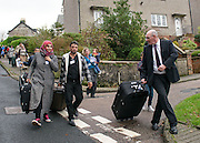 Syrian Refugees arrive on the Scottish Island of Bute during the 2015 international refugee crisis.<br /> <br /> © John Linton<br /> All rights reserved
