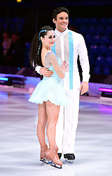 Max Evans (right) and Ale Izquierdo during the Dancing On Ice Live UK Tour Launch Photocall at SSE Arena, London.