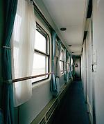 Train aisle, Silk Route, Turpan, Xinjiang Province, China.
