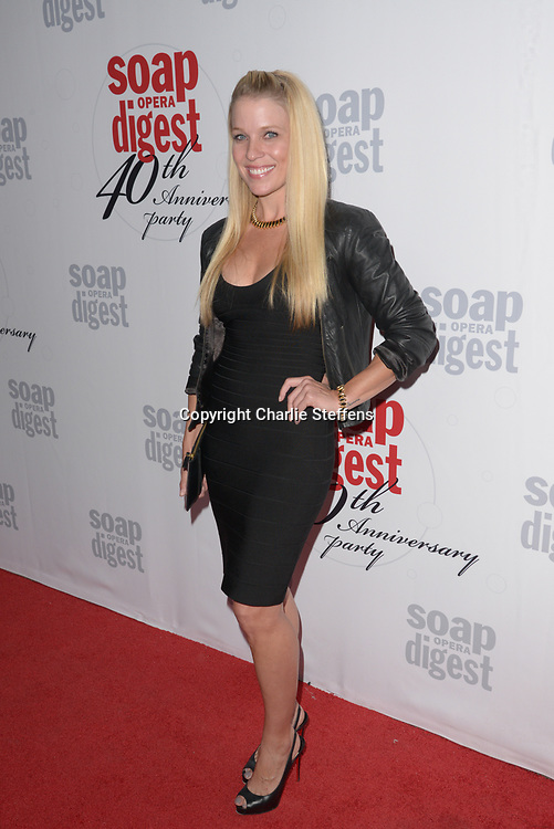 ALICIA LEIGH WILLIS at Soap Opera Digest's 40th Anniversary party at The Argyle Hollywood in Los Angeles, California